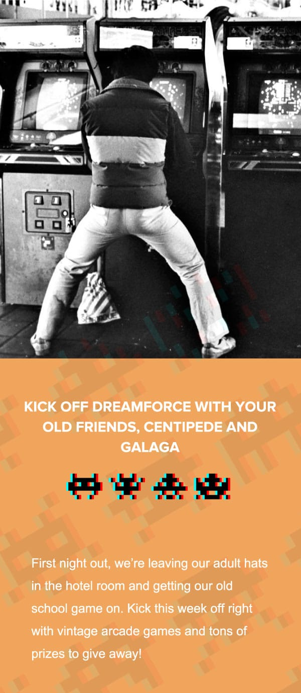 power up at the dreamforce arcade
