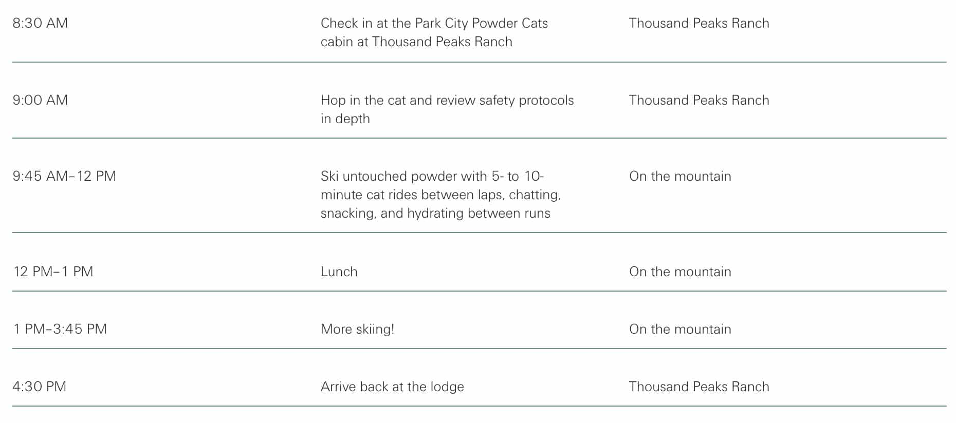 Cat skiing docusign and simplus itinerary